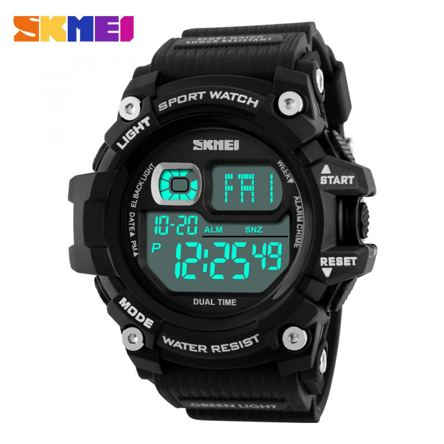 Jam Tangan Pria SKMEI Digital S-Shock Sport Watch Original DG1229 Hitam