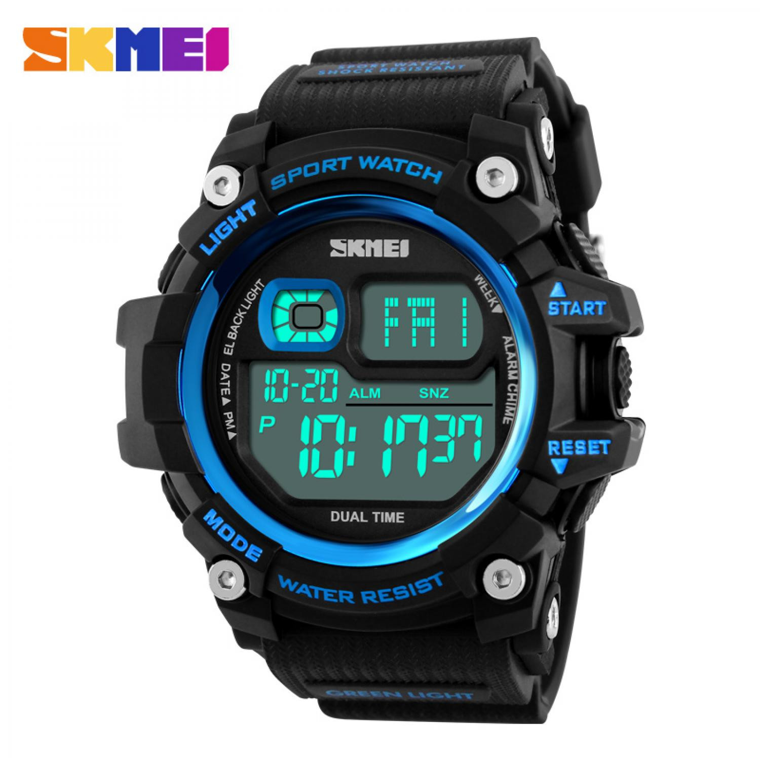 Jam Tangan Pria SKMEI Digital S-Shock Sport Watch Original DG1229 Biru