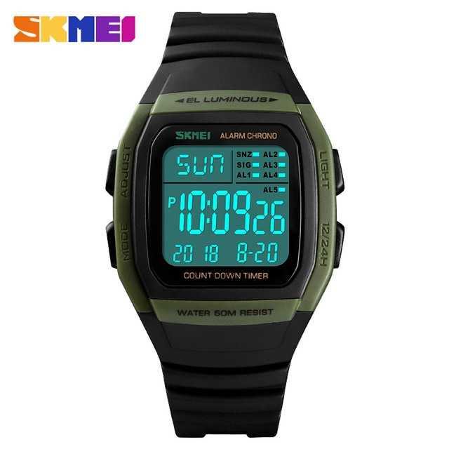 Jam Tangan Pria SKMEI Digital S-Shock Sport Watch Original DG1278 Army