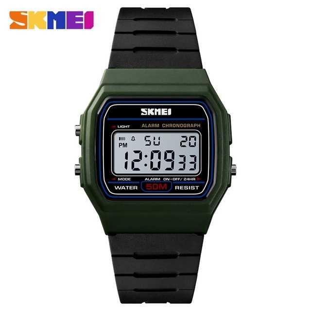 Jam Tangan Pria SKMEI Digital S-Shock Sport Watch Original DG1412 Hijau