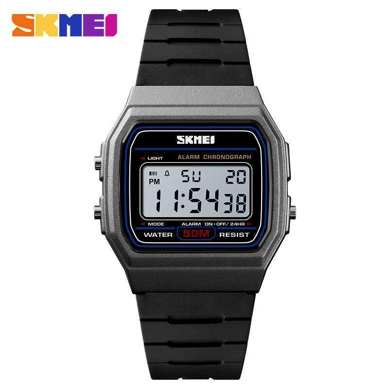 Jam Tangan Pria SKMEI Digital S-Shock Sport Watch Original DG1412 Titanium