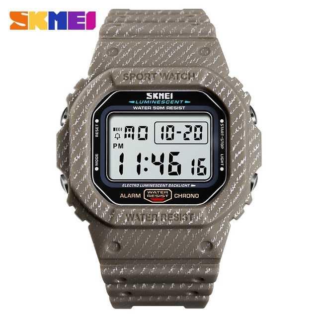 Jam Tangan Pria SKMEI Digital S-Shock Sport Watch Original DG1471 Khaki