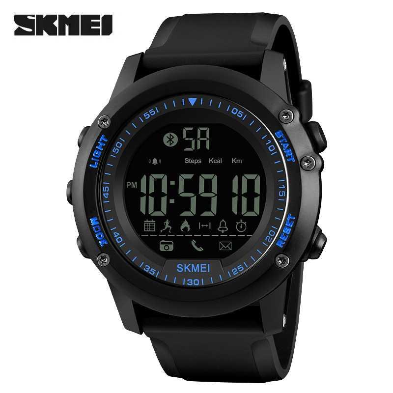 Jam Tangan Pria SKMEI Digital Smart Watch Bluetooth Original 1321 Biru