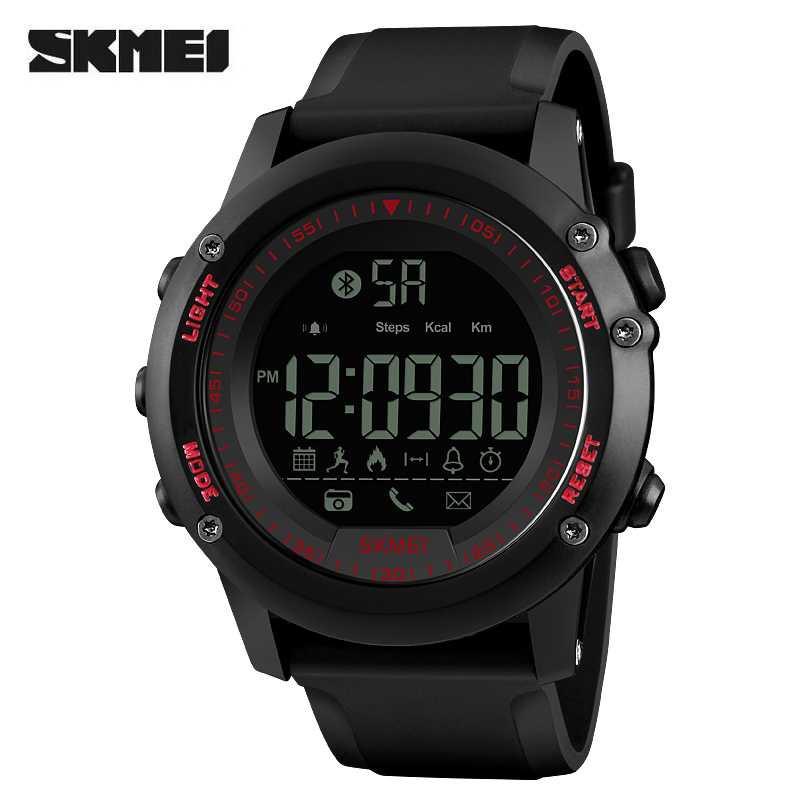 Jam Tangan Pria SKMEI Digital Smart Watch Bluetooth Original 1321 Merah