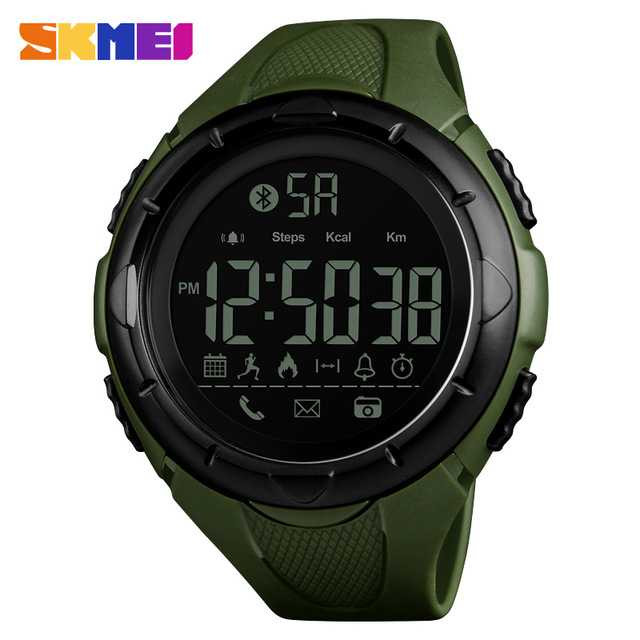 Jam Tangan Pria SKMEI Digital Smart Watch Bluetooth Original 1326 Hijau