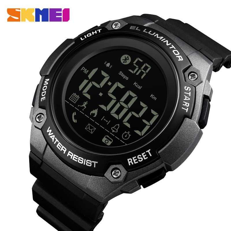 Jam Tangan Pria SKMEI Digital Smart Watch Bluetooth Original 1347 Titanium