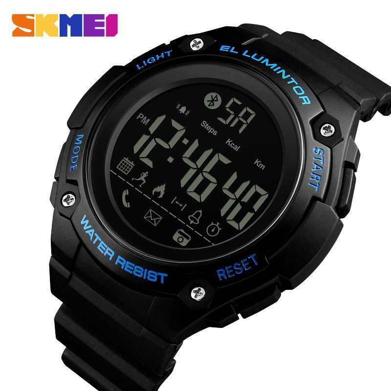 Jam Tangan Pria SKMEI Digital Smart Watch Bluetooth Original 1347 Biru