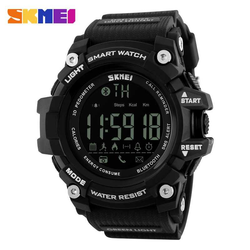 Jam Tangan Pria SKMEI Digital Smart Watch Bluetooth Original DG1227