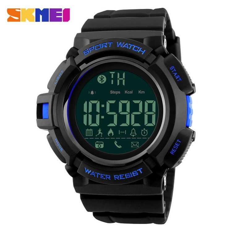 Jam Tangan Pria SKMEI Digital Smart Watch Bluetooth Original DG1245 Biru