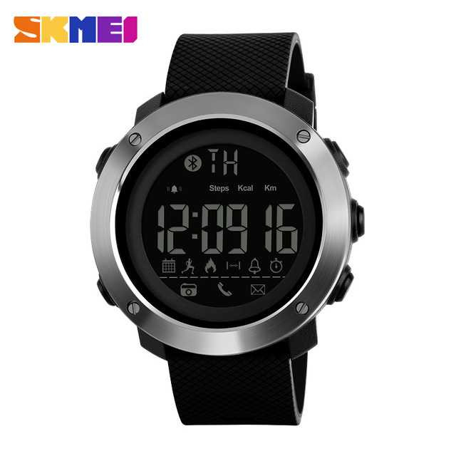 Jam Tangan Pria SKMEI Digital Smart Watch Bluetooth Original DG1285