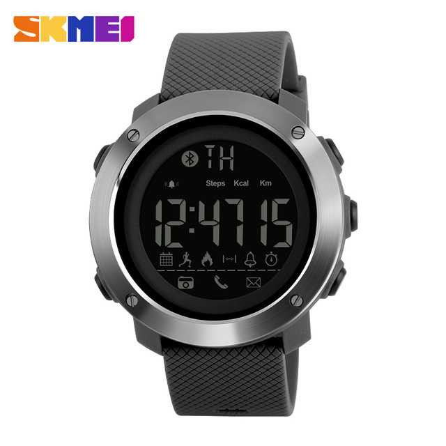 Jam Tangan Pria SKMEI Digital Smart Watch Bluetooth Original DG1285 Gray