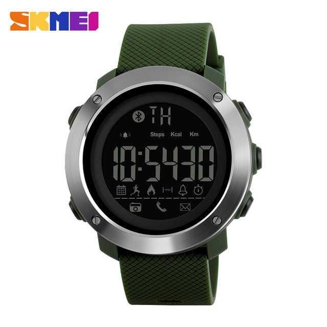 Jam Tangan Pria SKMEI Digital Smart Watch Bluetooth Original DG1285 Hijau