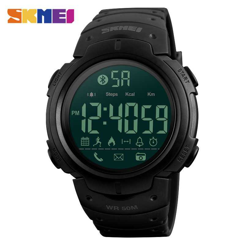Jam Tangan Pria SKMEI Digital Smart Watch Bluetooth Original DG1301