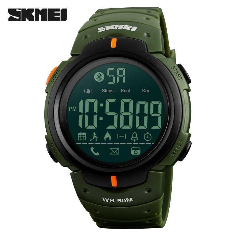 Jam Tangan Pria SKMEI Digital Smart Watch Bluetooth Original DG1301 Hijau