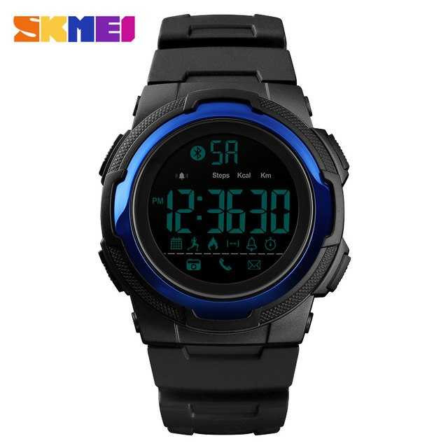 Jam Tangan Pria SKMEI Digital Smart Watch Bluetooth Original DG1440 Navy