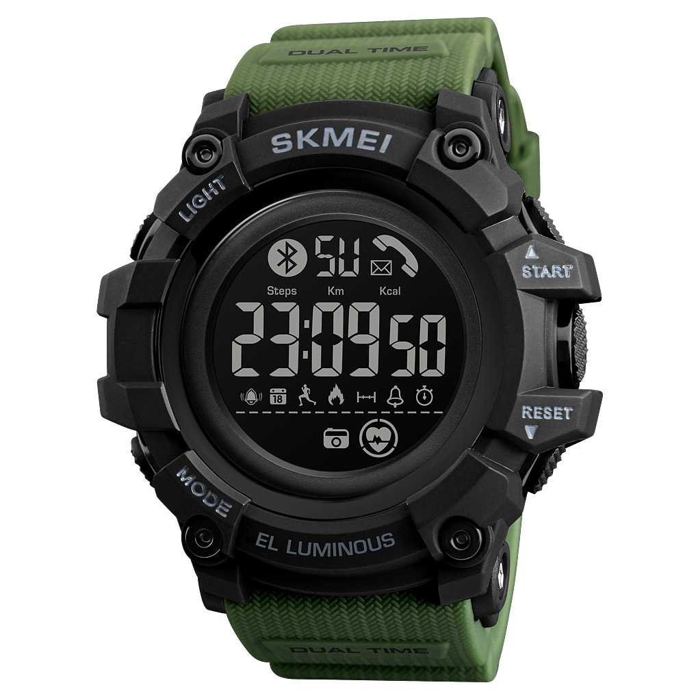 Jam Tangan Pria SKMEI Digital Smart Watch Bluetooth Original DG1643 Army