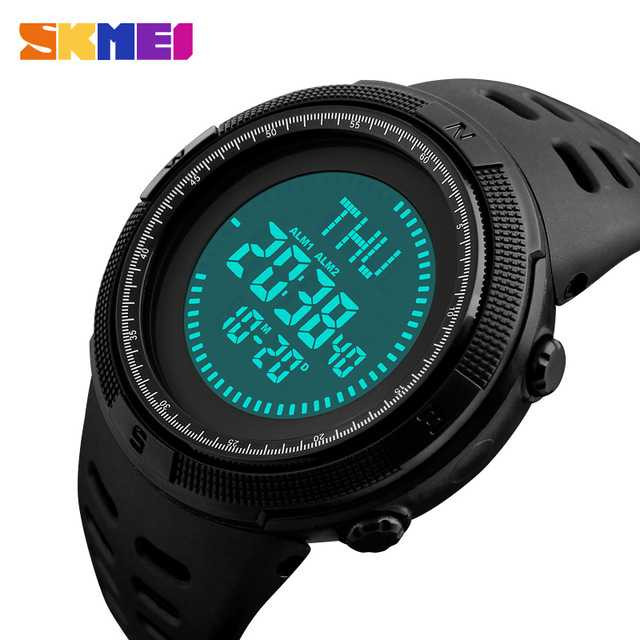 Jam Tangan Pria SKMEI Digital Sport LED Compass Original 1254