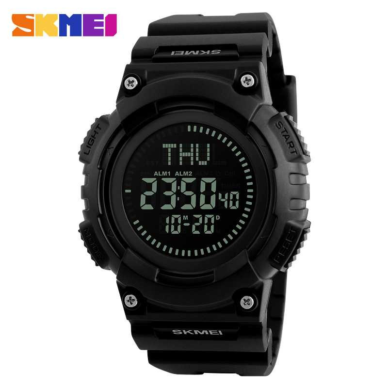 Jam Tangan Pria SKMEI Digital Sport LED Compass Original 1259