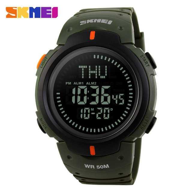 Jam Tangan Pria SKMEI Digital Sport LED Compass Original DG1231CM