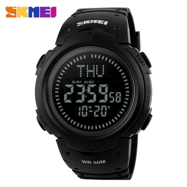 Jam Tangan Pria SKMEI Digital Sport LED Compass Original DG1231CM Hitam