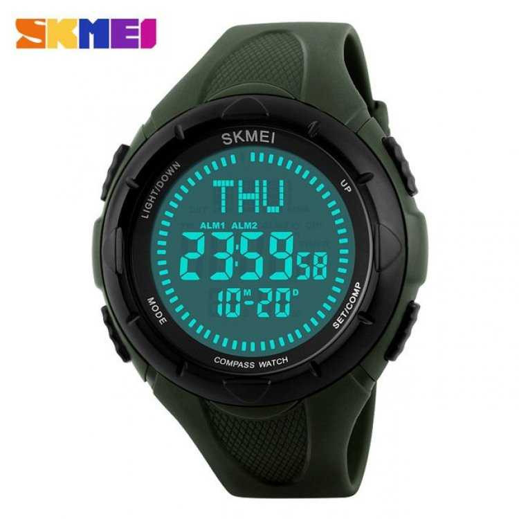 Jam Tangan Pria SKMEI Digital Sport LED Compass Original DG1232 Army