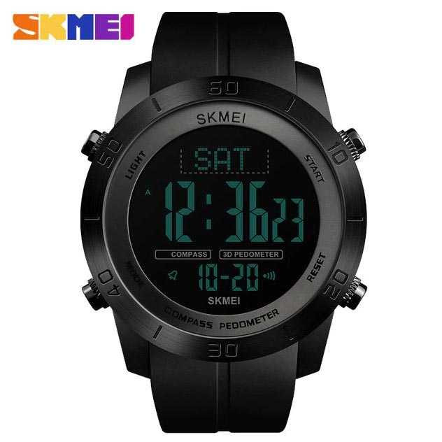 Jam Tangan Pria SKMEI Digital Sport LED Compass Pedometer Original DG1354