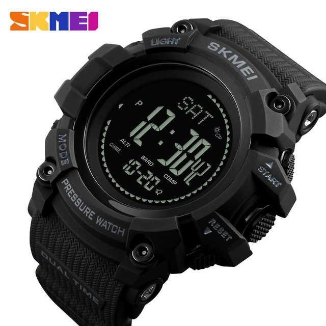 Jam Tangan Pria SKMEI Digital Sport LED Compass Pedometer Original DG1358