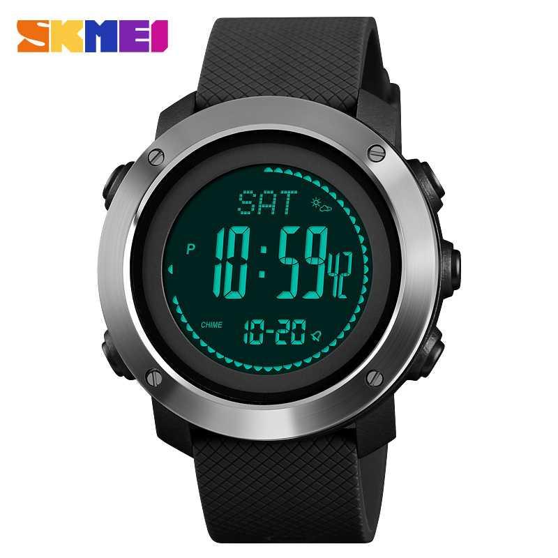 Jam Tangan Pria SKMEI Digital Sport LED Compass Pedometer Original DG1418