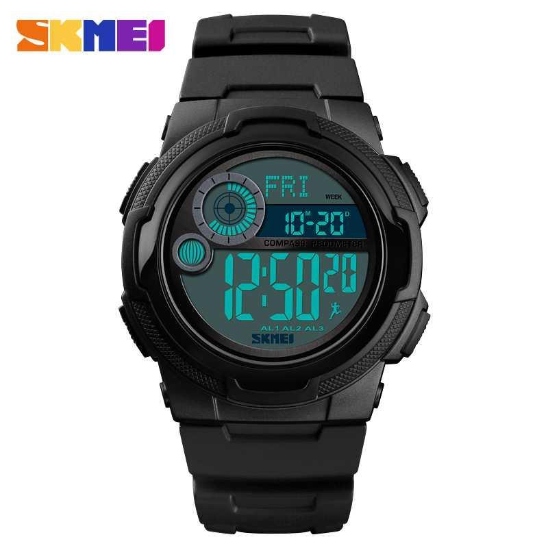 Jam Tangan Pria SKMEI Digital Sport LED Compass Pedometer Original DG1424