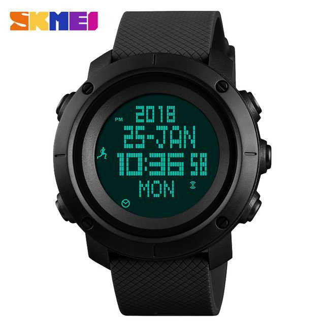 Jam Tangan Pria SKMEI Digital Sport LED Compass Pedometer Original DG1430