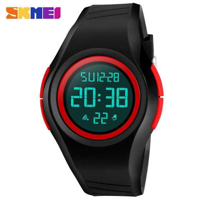 Jam Tangan Pria SKMEI Digital Sport LED Original 1269 Merah
