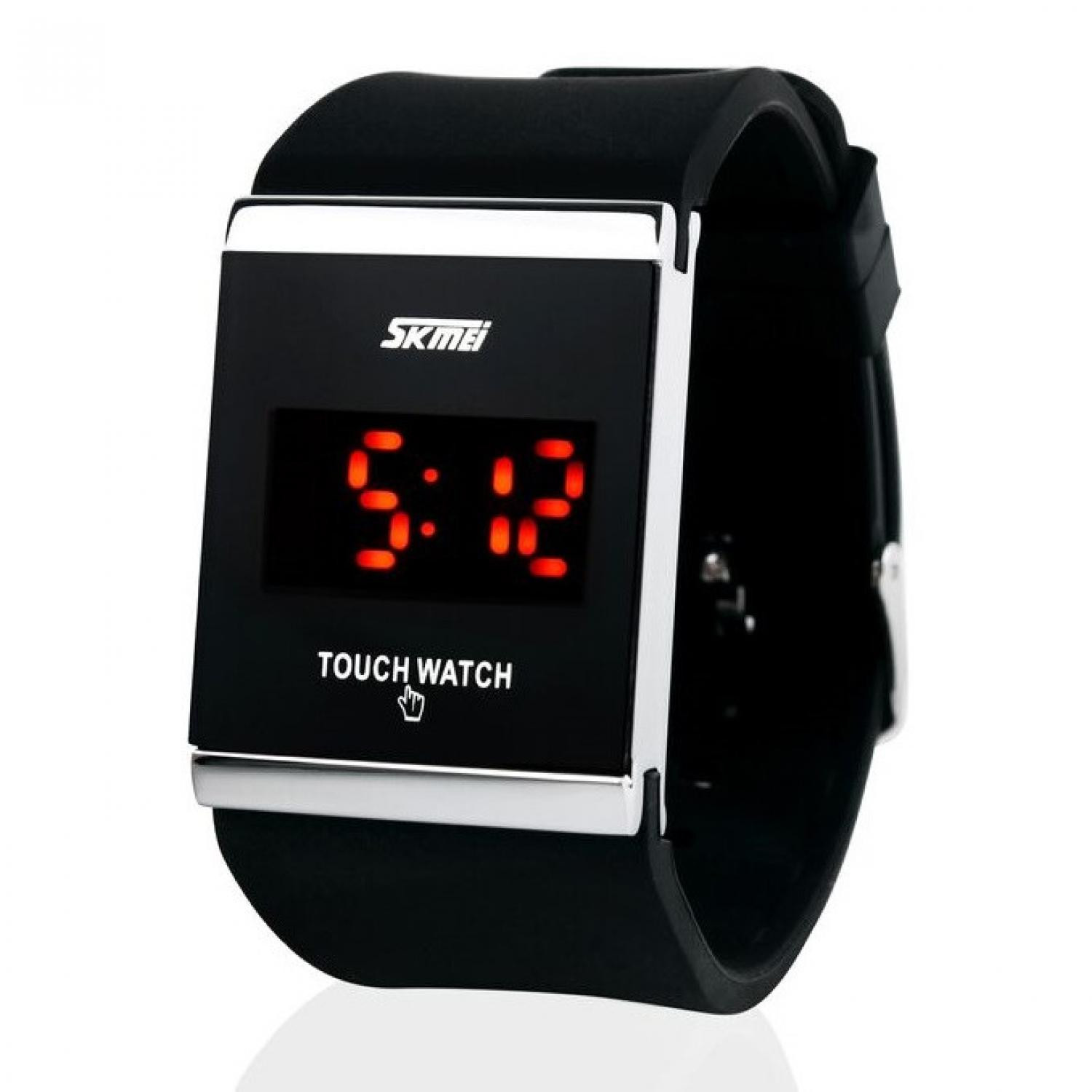 Jam Tangan Pria SKMEI Digital Sport LED Touch Original 0983AT