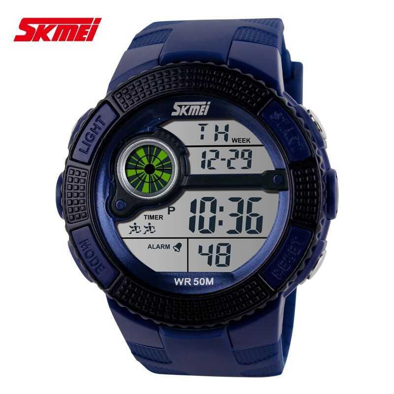 Jam Tangan Pria SKMEI Digital Sport LED Watch Original DG1027 Biru