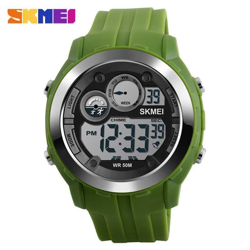Jam Tangan Pria SKMEI Digital Sport LED Watch Original DG1234 Hijau