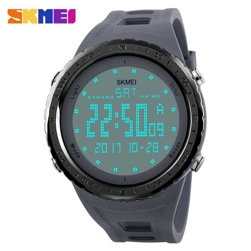 Jam Tangan Pria SKMEI Digital Sport LED Watch Original DG1246 Gray