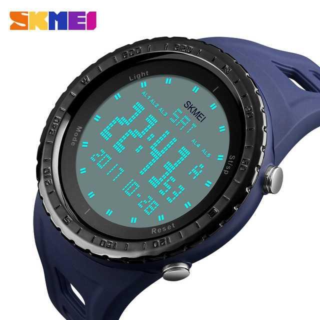 Jam Tangan Pria SKMEI Digital Sport LED Watch Original DG1246 Biru