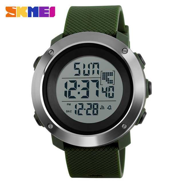 Jam Tangan Pria SKMEI Digital Sport LED Watch Original DG1268 Hijau