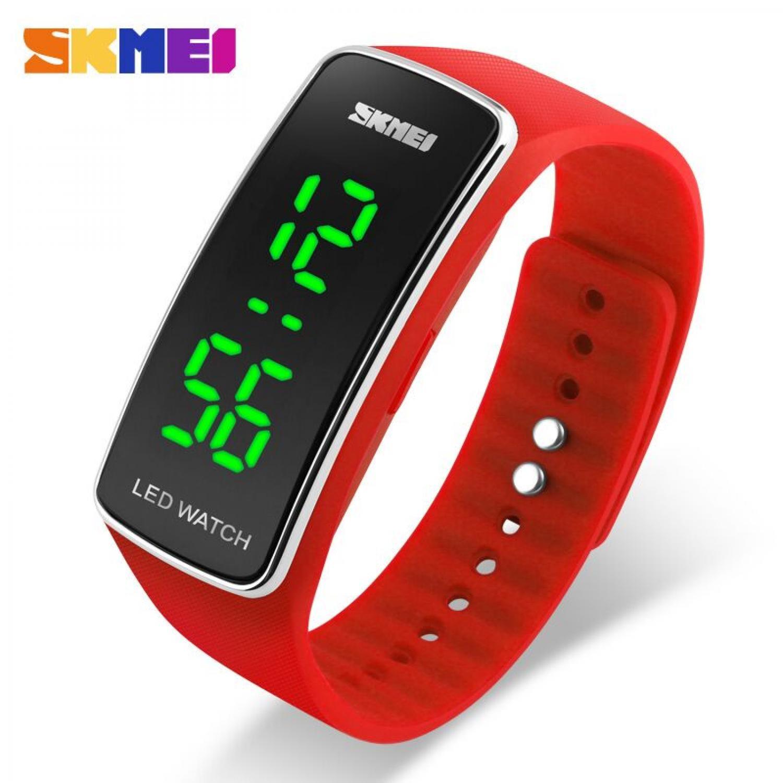 Jam Tangan Pria SKMEI Digital Sport Rubber LED Original 1119 Merah