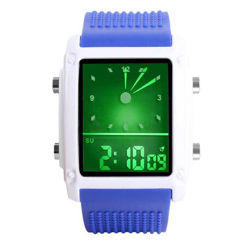 Jam Tangan Pria SKMEI Digital Trendy Men LED Display Original 0814D1 Biru