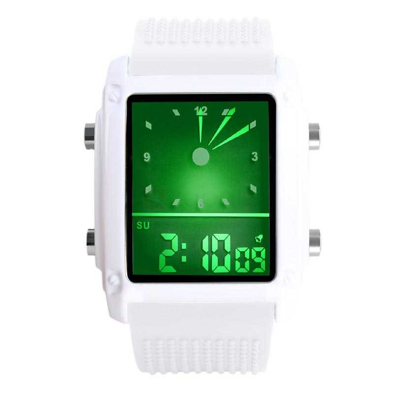 Jam Tangan Pria SKMEI Digital Trendy Men LED Display Original 0814D1 Putih fd11970280