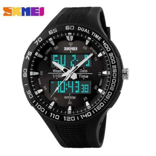 Jam Tangan Pria SKMEI Dual Time  Casio Men Original AD1066