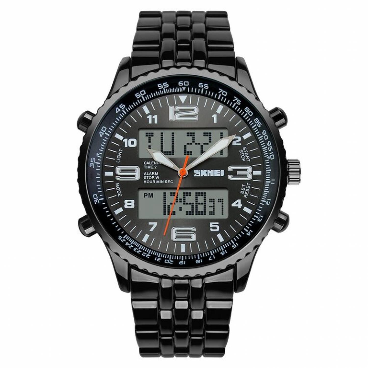 Jam Tangan Pria SKMEI Dual Time Casio Men Sport LED Original AD1032