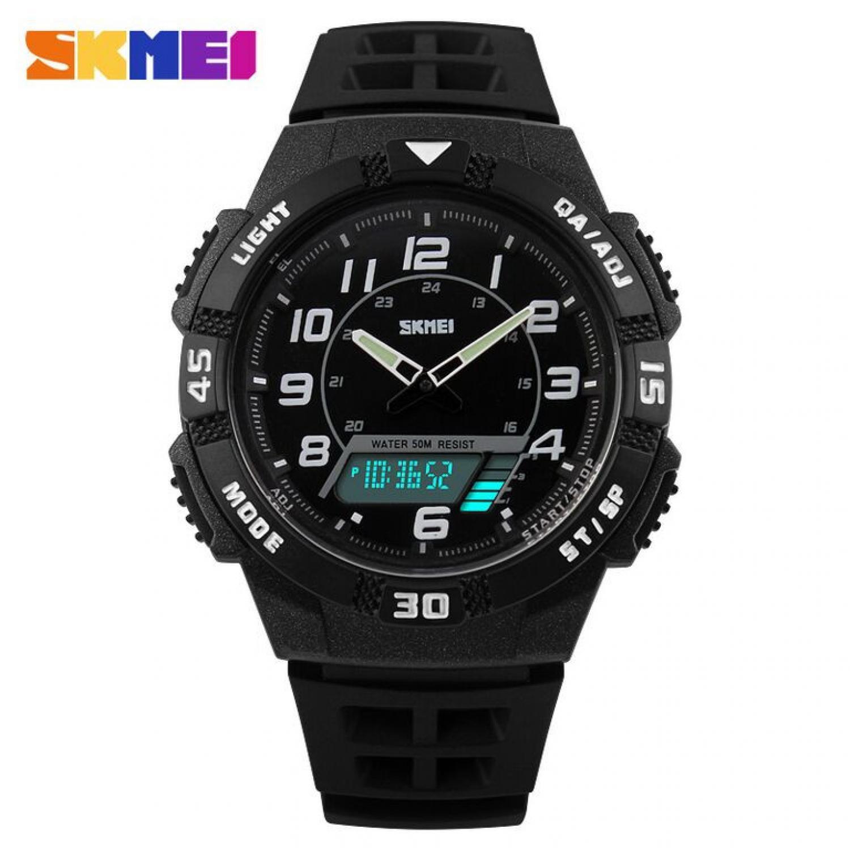 Jam Tangan Pria SKMEI Dual Time Casio Men Sport LED Original AD1065
