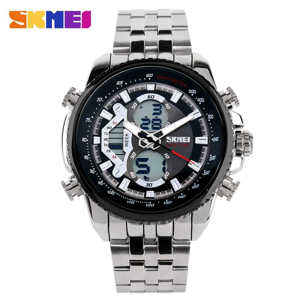 Jam Tangan Pria SKMEI Dual Time Casio Men Sport Original AD0993
