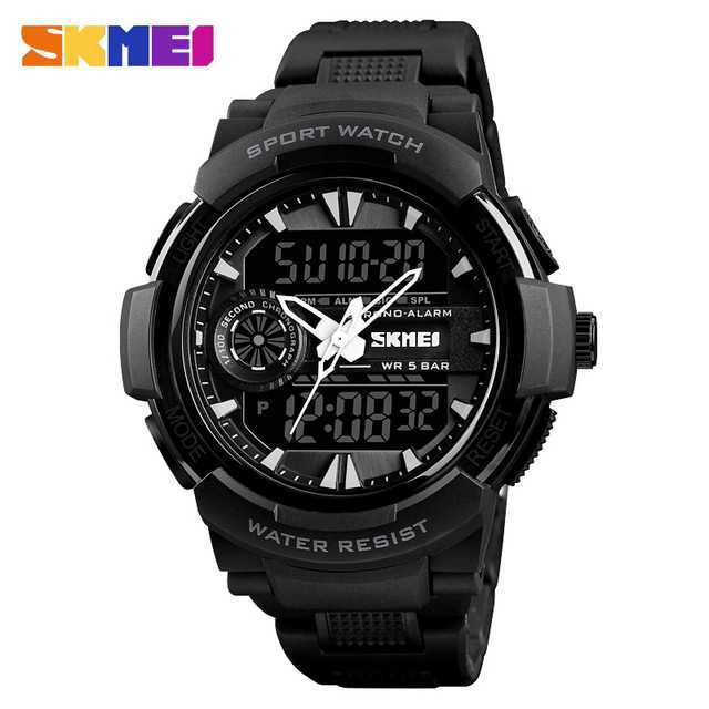Jam Tangan Pria SKMEI Dual Time Casio Men Sport Original AD1320
