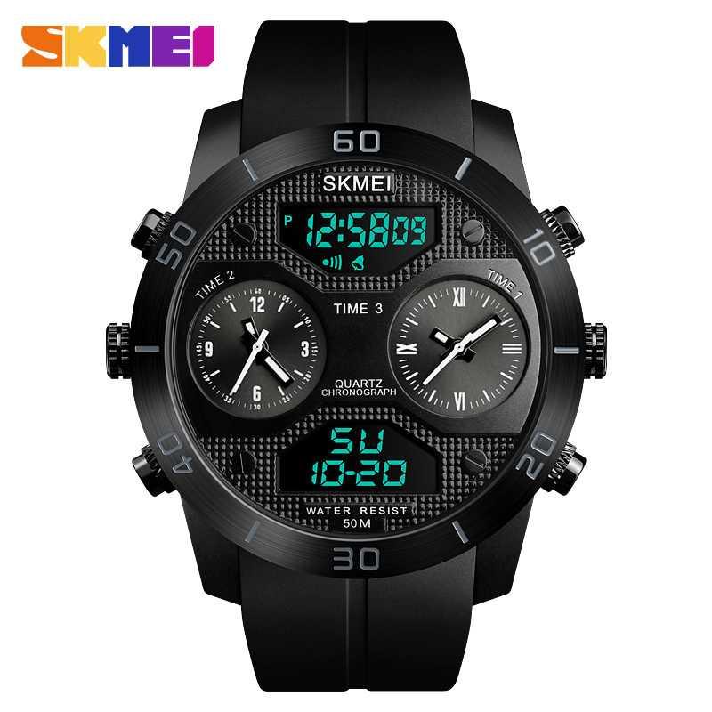 Jam Tangan Pria SKMEI Dual Time Jumbo Watch Original AD1355