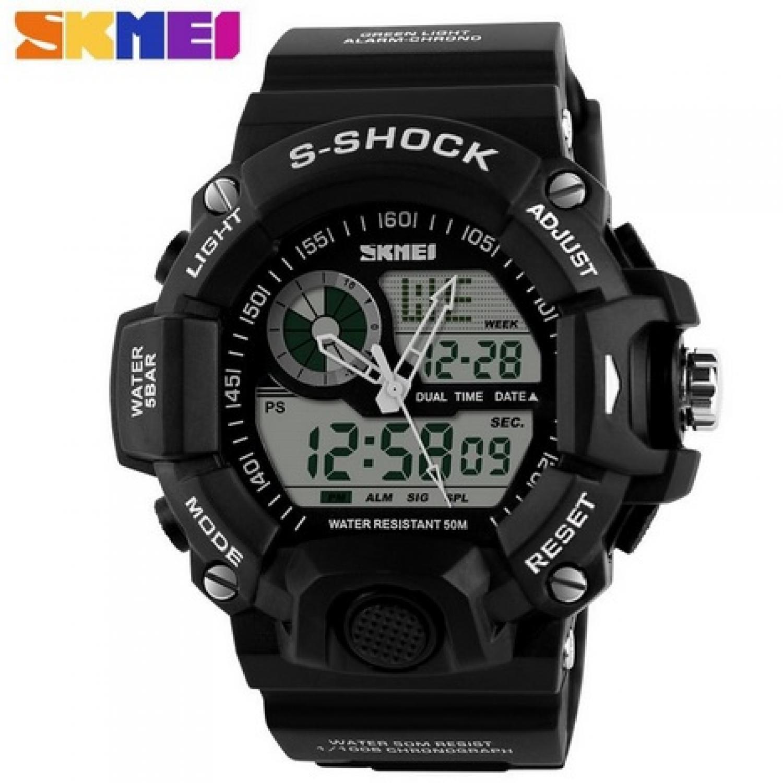 Jam Tangan Pria SKMEI Dual Time S-Shock Men Sport Original AD1029