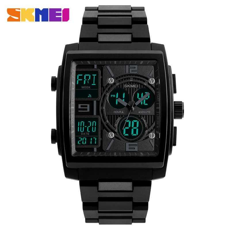 Jam Tangan Pria SKMEI Dual Time S-Shock Sport LED Original 1274