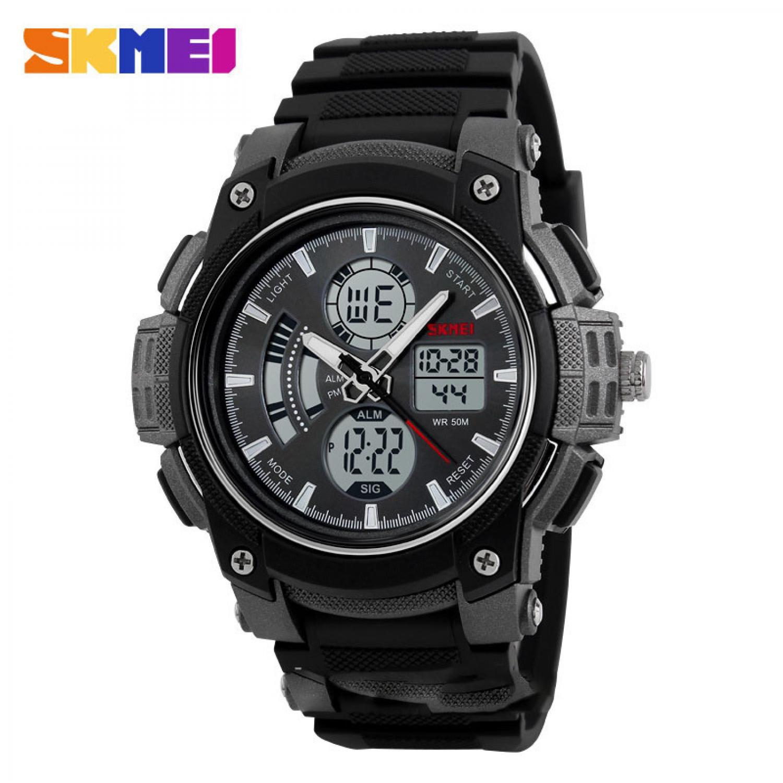 Jam Tangan Pria SKMEI Dual Time Sport Men LED Original AD1192
