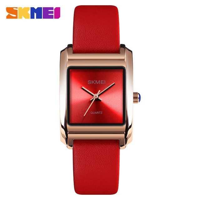 Jam Tangan Wanita SKMEI Analog Casual Leather Watch Original 1432CL